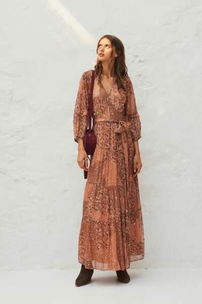 Robe longue imprimée, 390€, Bash