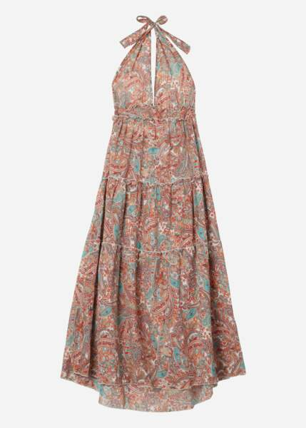 Robe longue à carreaux avec cordon coulissant, 39.90€, Calzedonia