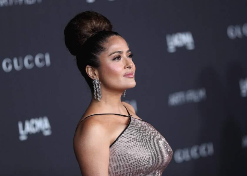 "Salma Hayek à la soirée LACMA Art + Film Gala"" le 2 novembre 2019."