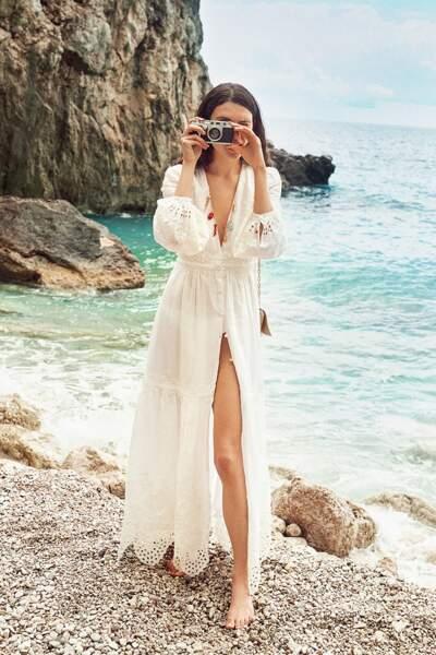 Robe longue Ristana en dentelle, collection capri, 495€, Vanessa Bruno