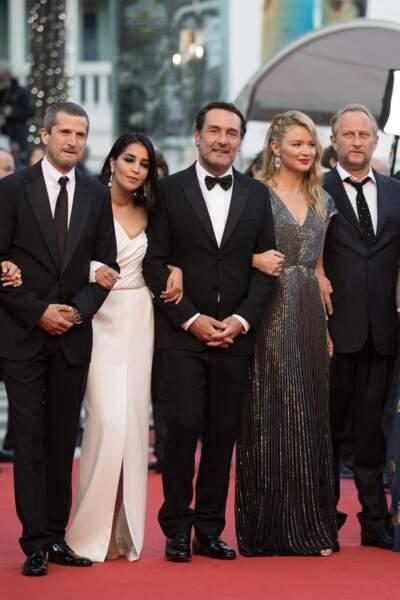 Virginie Efira en 2018 au Festival de Cannes : sublime en robe longue lamée.