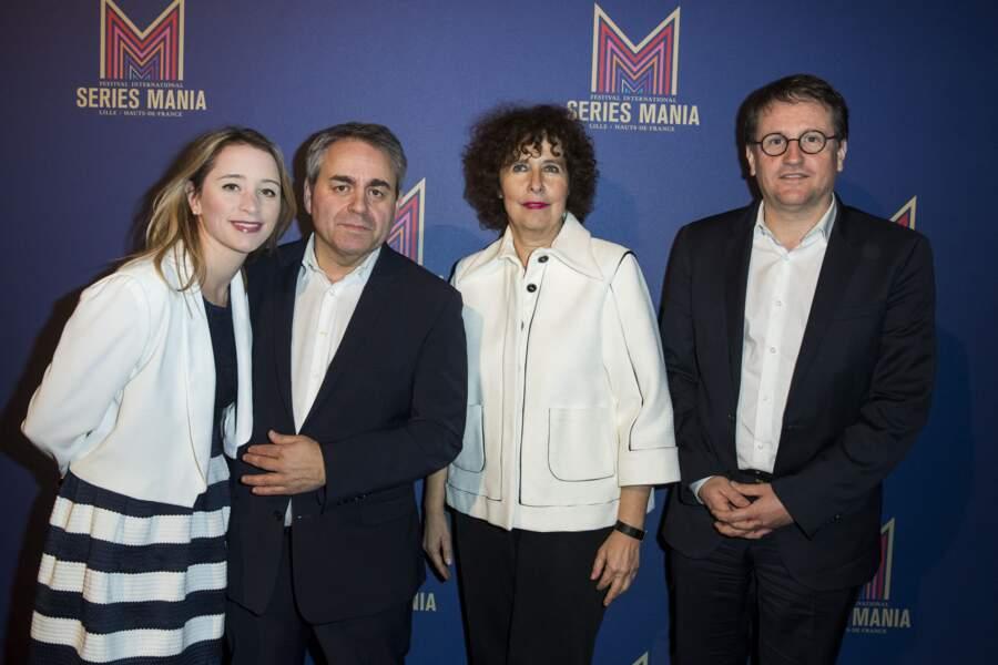 Xavier Bertrand et sa femme Vanessa Williot, à l'hôtel Salomon de Rothschild à Paris, en 2019