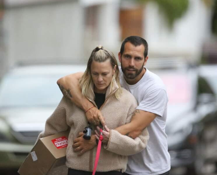Robin Wright et Clément Giraudet en ballade à Los Angeles le 24 juin 2019
