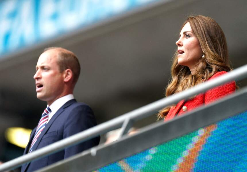 Le prince William et Kate Middleton étaient sur leu trente-et-un pour assister à ce match de l'Euro 2021 opposant l'Angleterre et l'Allemagne, ce mardi 29 juin