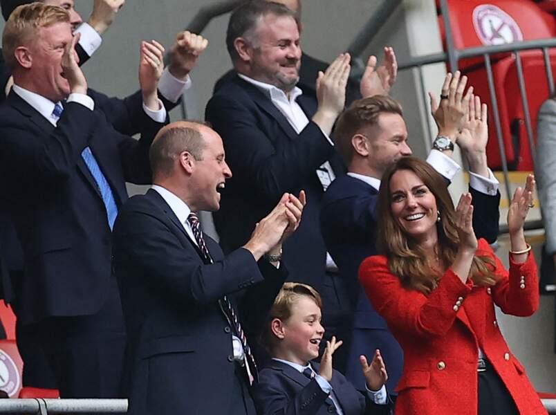 Passionné de foot, le prince George était surexcité dans les tribunes du stade de Wembley à Londres, ce mardi 29 juin 2021