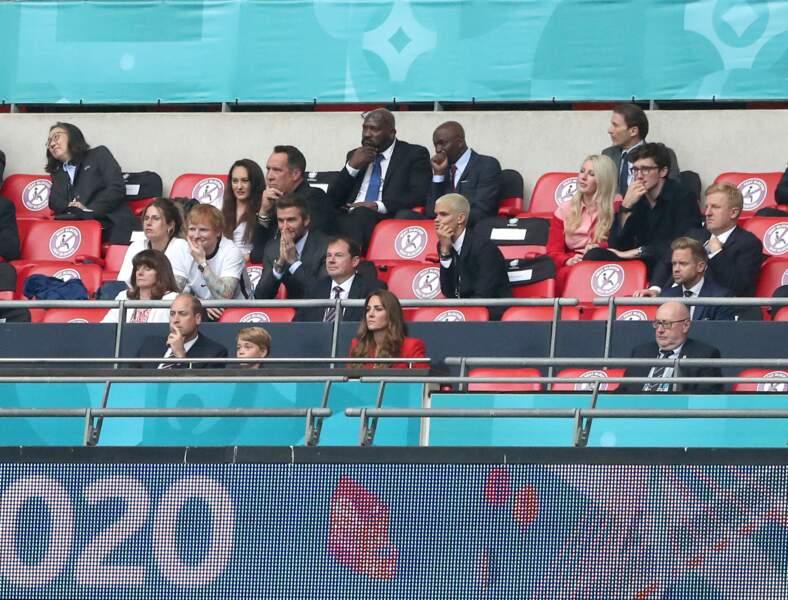 Parmi le footballeur David Beckham et le chanteur Ed Sheeran, le prince George a pris place ans les tribunes du stade de Wembley à Londres, ce mardi 29 juin 2021