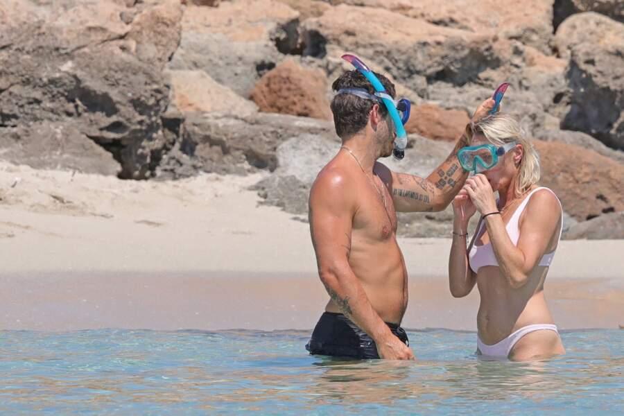 Robin Wright et son mari Clément Giraudet à Ibiza le 20 août 2018