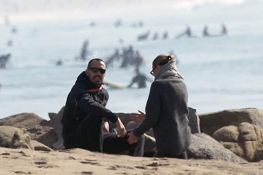 L'actrice Robin Wright et Clément Giraudet à Santa Monica le 21 novembre 2020