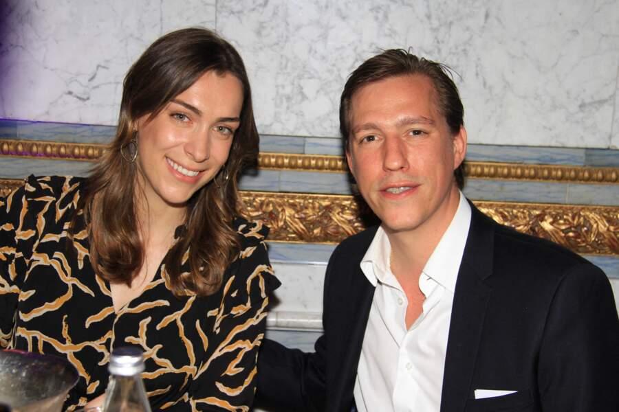 """Le prince Louis de Luxembourg et sa fiancée Scarlett-Lauren Sirgue étaient présents à la soirée """"La Dolce Vita De Massimo"""", ce 30 juin 2021."""