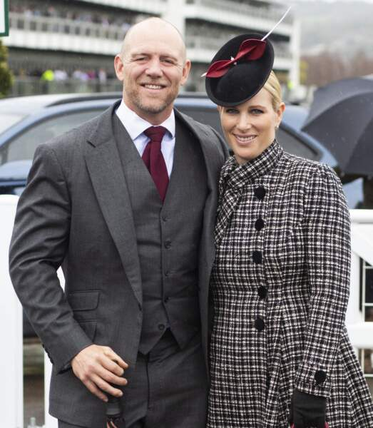 Zara Tindall et  et son mari Mike Tindall à Cheltenham le 15 mars 2019