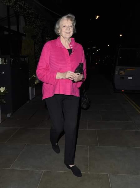 Maggie Smith à Londres, le 25 mai 2016.
