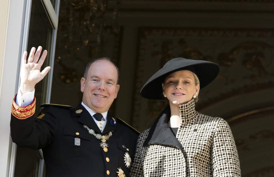 Le prince Albert II de Monaco et sa femme la princesse Charlene le 19 novembre 2018 à Monaco