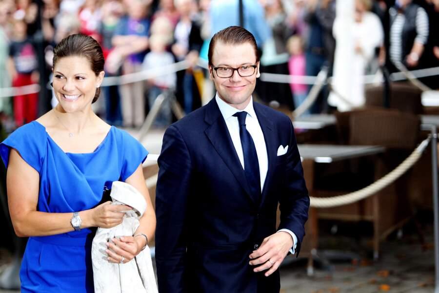 Victoria de Suède et Daniel Westling le 21 août 2010 à Stockholm