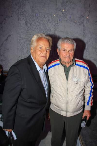"""Massimo Gargia et Claude Lelouch ont assisté à la soirée """"La Dolce Vita De Massimo"""", à Paris le 30 juin 2021."""