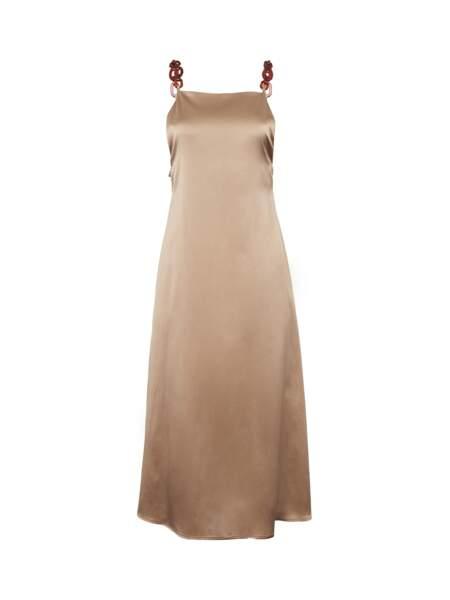 Robe longue satin de soie Rachelle, 325€, Fête Impériale