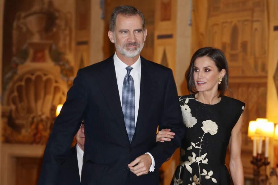 Le roi Felipe VI et la reine Letizia d'Espagne à Madrid le 28 novembre 2019