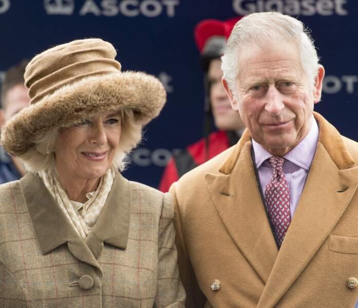 Le prince Charles et Camilla Parker Bowles à Ascot le 24 novembre 2017