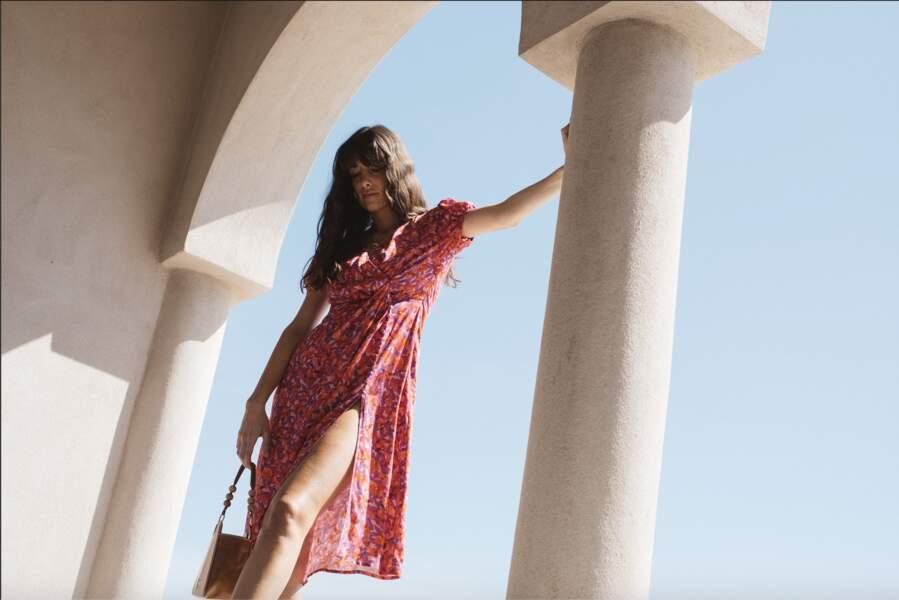 Robe longue Sanaa, imprimé fleurs, 180€, Balzac Paris x  Juliesfi