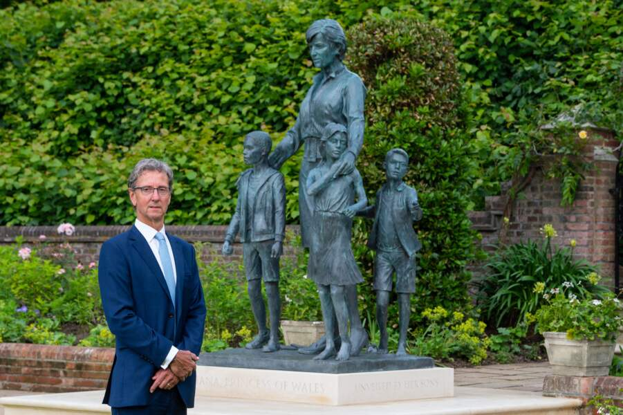 Ian Rank-Broadley, le sculpteur de la statue de Diana, le 1er juillet 2021.