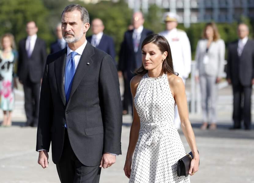 Le roi Felipe VI et la reine Letizia d'Espagne à Cuba le 12 novembre 2019