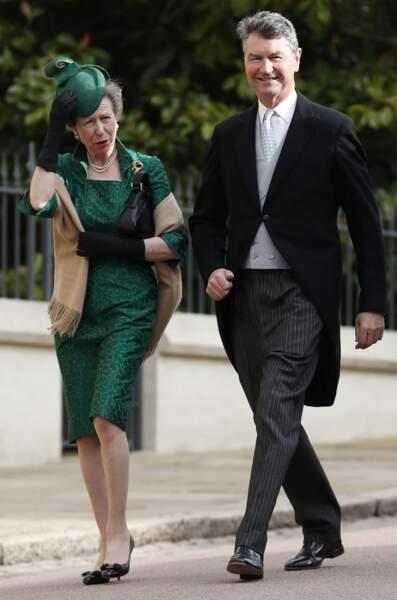 La princesse Anne d'Angleterre,  Timothy Laurence au château de Windsor le 12 octobre 2018