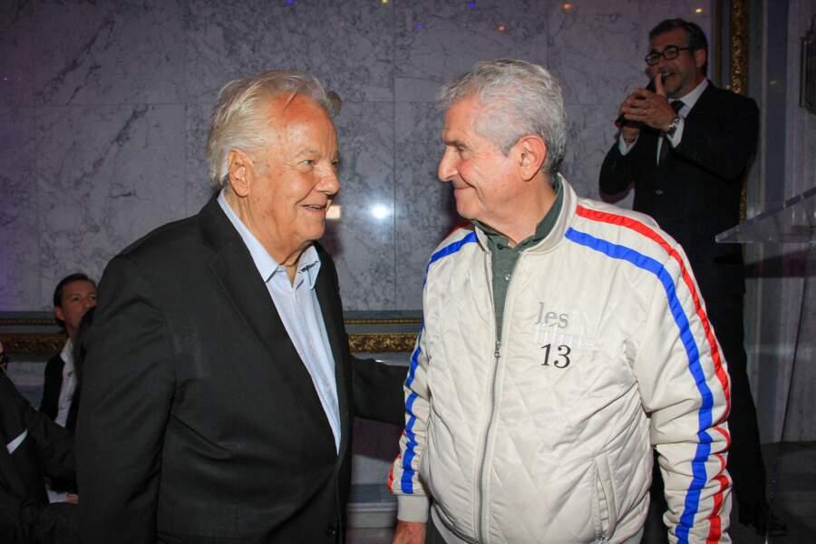 """Massimo Gargia et Claude Lelouch, complices, lors de la soirée """"La Dolce Vita De Massimo"""", à Paris le 30 juin 2021."""