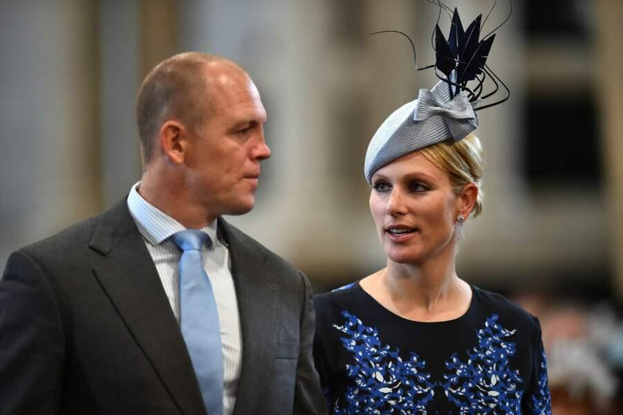 Zara Phillips et son mari Mike Tindall à Londres le 10 juin 2016