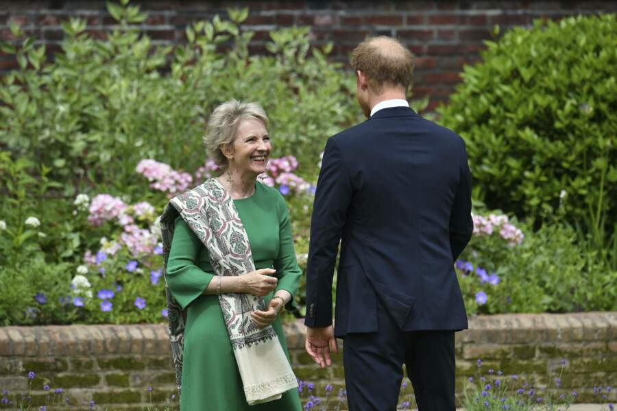William en pleine discussion lors de la révélation de la statue de Diana, ce 1er juillet 2021.
