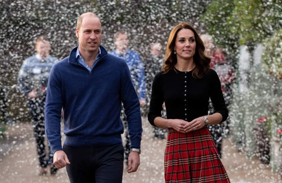 Le prince William et Kate Middleton le 4 décembre 2018 à Londres