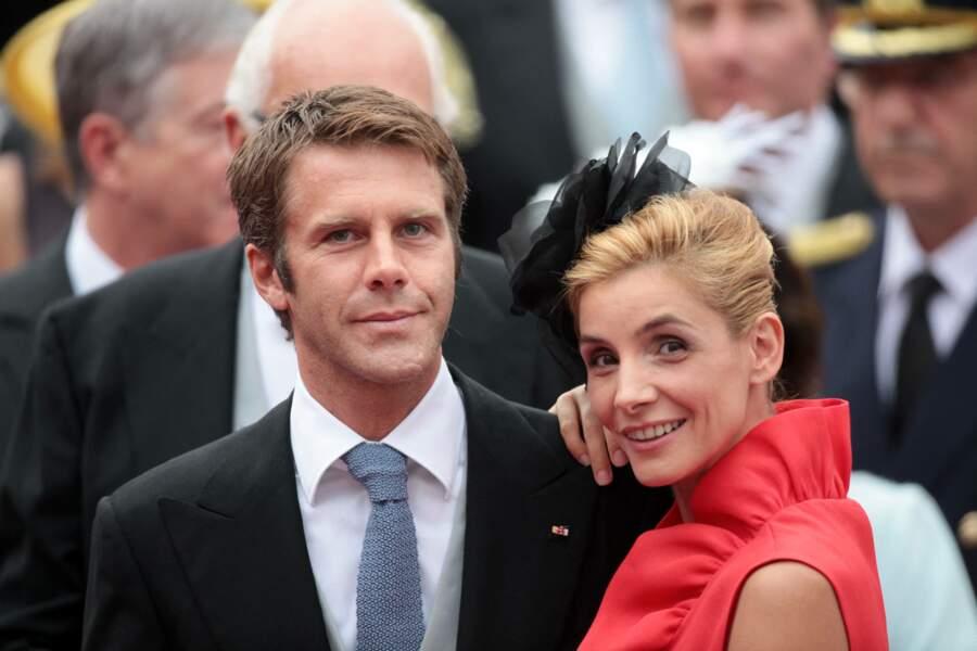 Clotilde Courau et son époux Emmanuel-Philibert de Savoie à Monaco le 2 juillet 2011