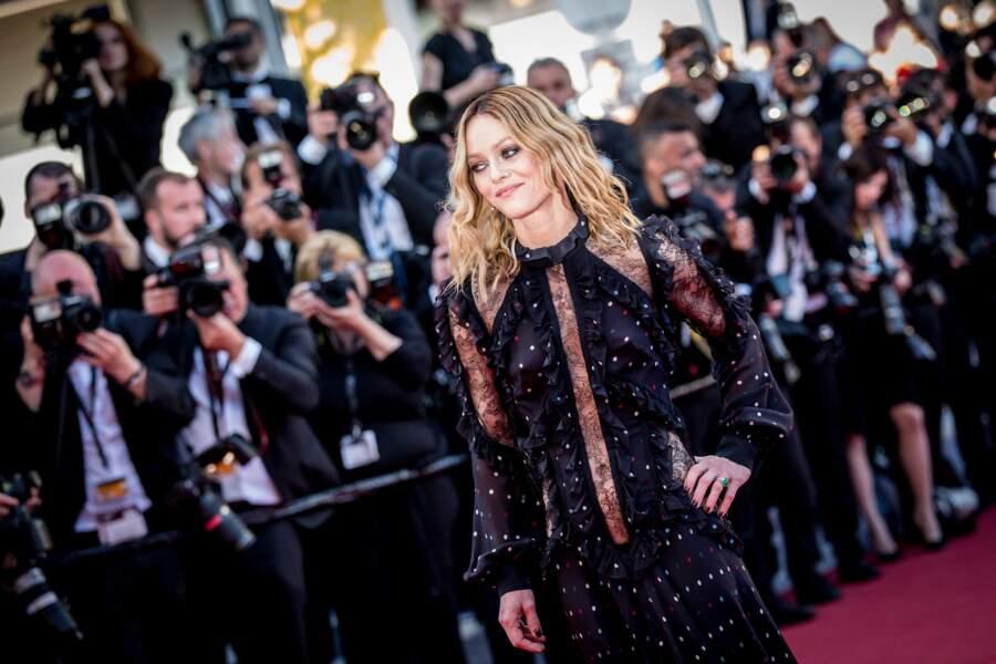 Vanessa Paradis en 2016 : vêtue d'une robe Elie Saab