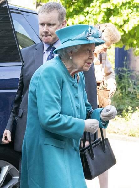 La reine Elizabeth II a visité l'Institut sur le changement climatique à Edimbourg le 1er juillet.