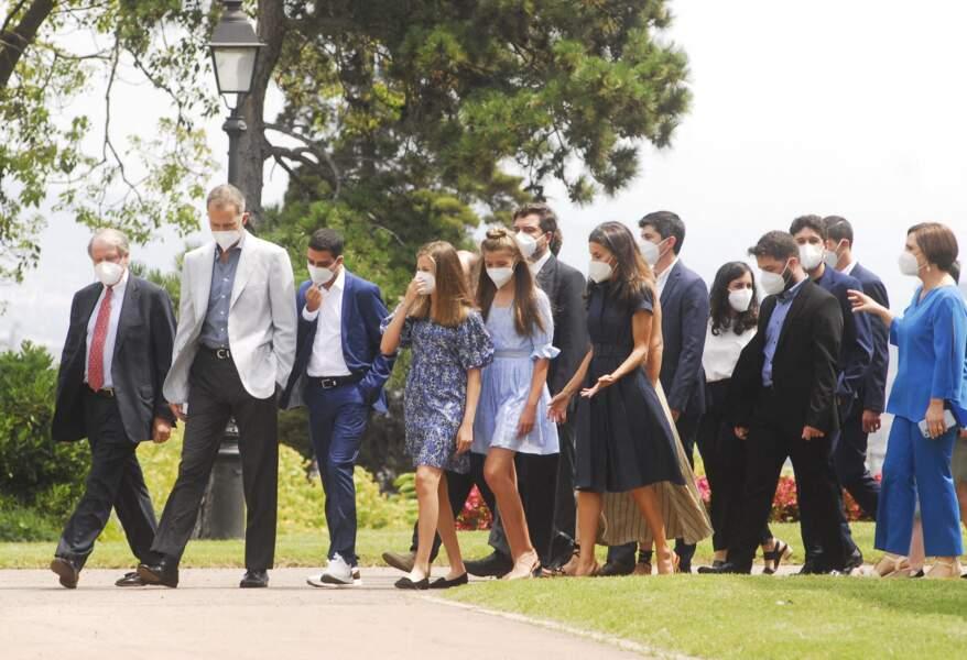 Avec les anciens lauréats, le roi Felipe VI va à la rencontre des nouveaux jeunes talents décorés le 1er juillet 2021