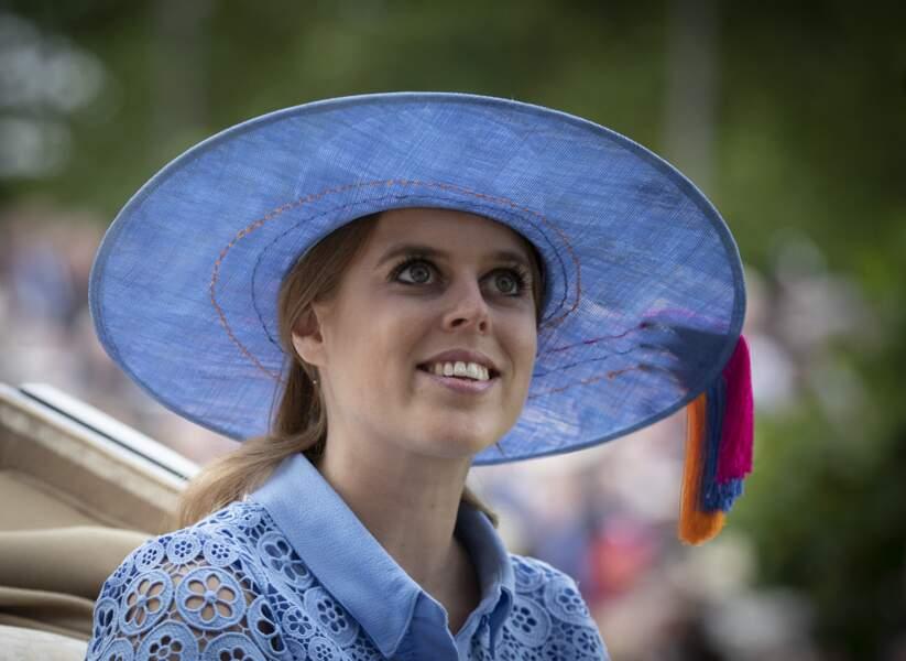 La princesse Beatrice d'York à d'Ascot, le 18 juin 2019.