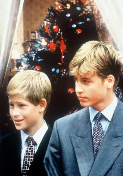 Les princes Harry et William en 1997