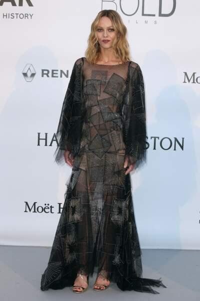Vanessa Paradis en 2016 : revêt une robe Chanel de la collection Haute Couture Automne-Hiver 2013/2014