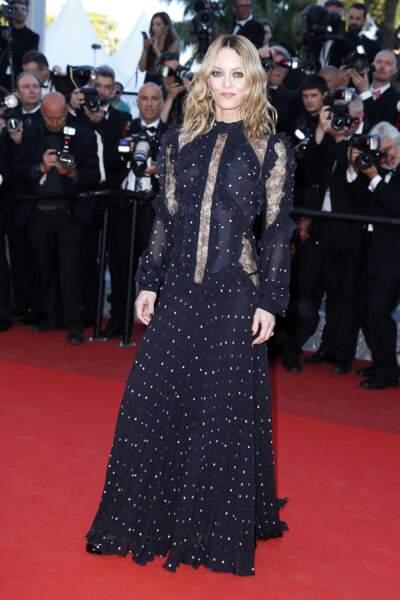 Vanessa Paradis en 2016 : l'actrice avait choisi une robe romantique et gothique
