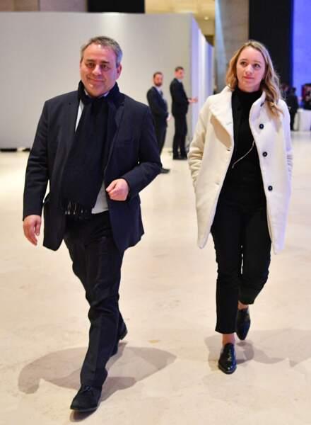 Xavier Bertrand et sa femme Vanessa Williot au  Caroussel du Louvre à Paris, le 20 février 2019