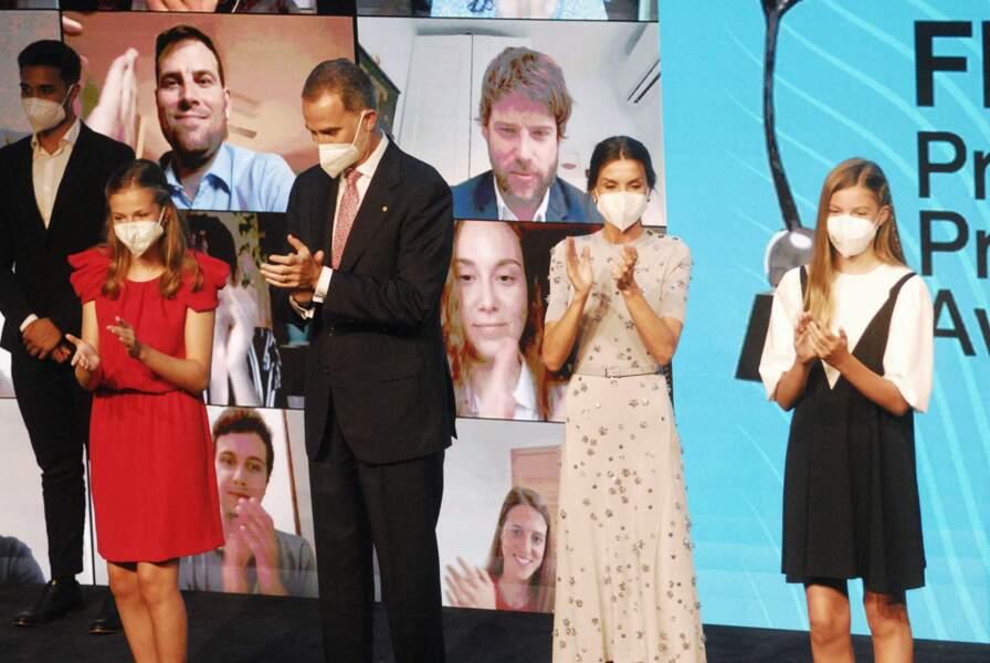 La famille royale a copieusement applaudit les lauréats sacrés le 1er juillet 2021