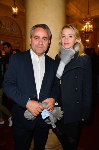 Xavier Bertrand et sa femme Vanessa Williot à Paris le 12 octobre 2016.