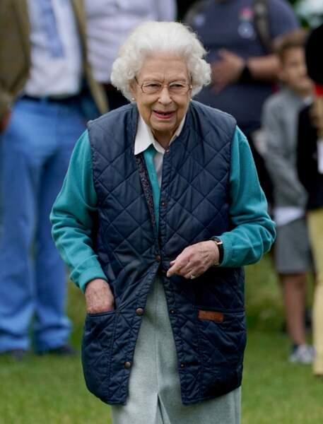 La reine y a été aperçue à plusieurs reprises, et notamment ce samedi 3 juillet, dans la matinée.