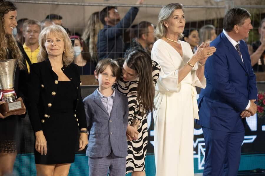 Charlotte Casiraghi, sa mère et son fils, ce samedi 3 juillet.