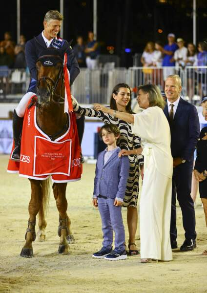 Une belle complicité entre Caroline de Monaco et son petit-fils.