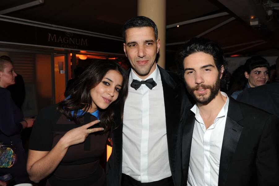 Tahar Rahim et Leïla Bekhti au Festival de Cannes en 2013.