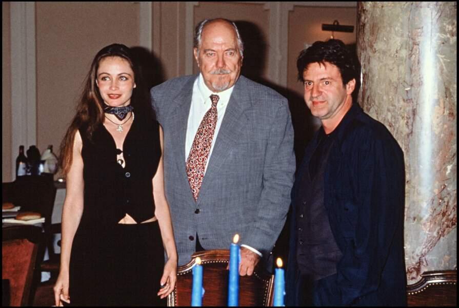 Emmanuelle Béart et Daniel Auteuil au Festival de Cannes en 1993.