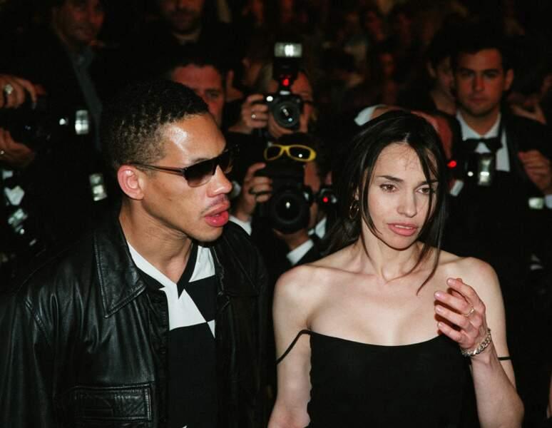 Béatrice Dalle et JoeyStarr au Festival de Cannes en 2002.