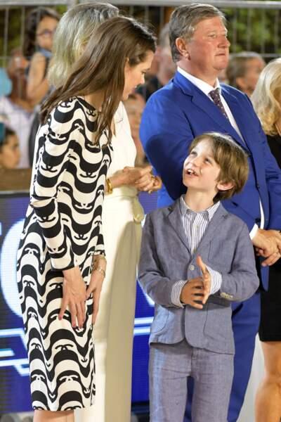Un regard si complice entre Charlotte Casiraghi et son fils, Raphaël.