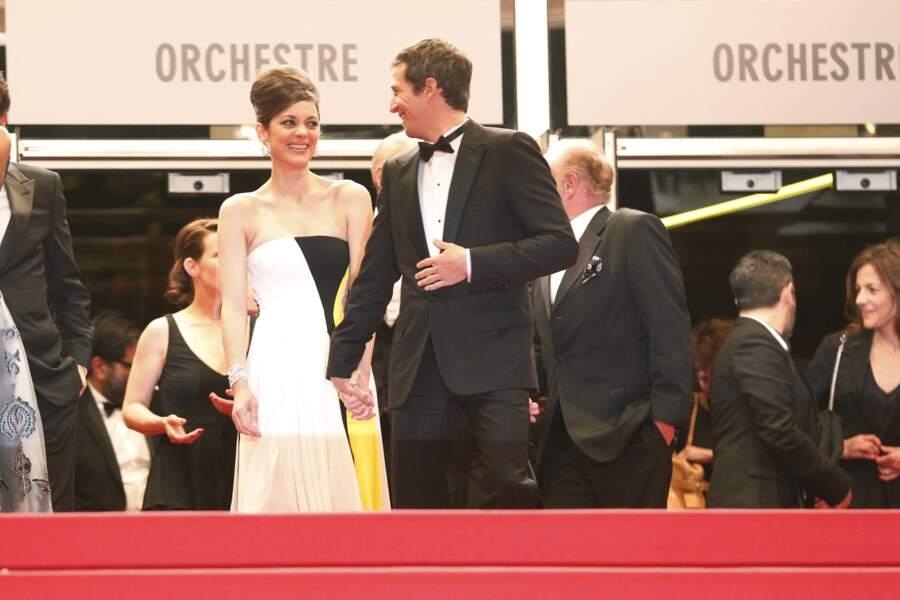 Marion Cotillard et Guillaume Canet au Festival de Cannes en 2013.