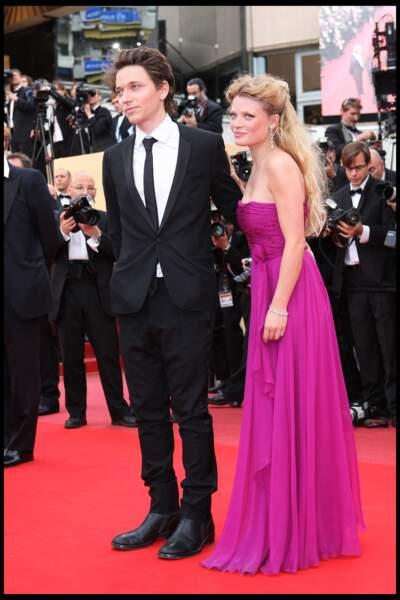 Mélanie Thierry et Raphaël au Festival de Cannes en 2010.