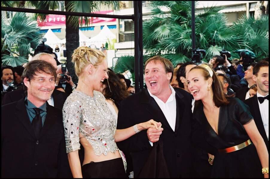 Gérard Depardieu et Carole Bouquet au Festival de Cannes en 2000.